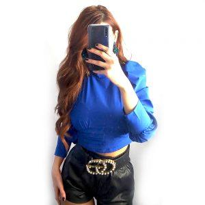 blusa azul klein sapphire