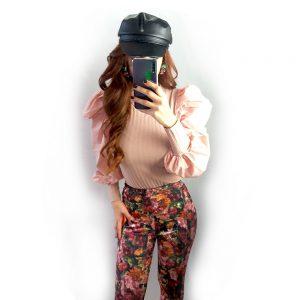 camiseta canale manga larga bombshell rosa