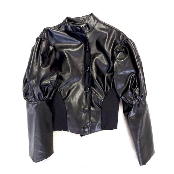 chaqueta polipiel negra