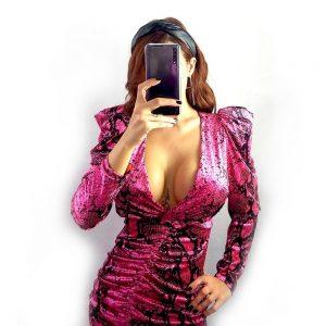 vestido corto serpiente viper