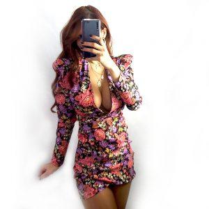 vestido estampado bramble