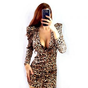vestido estampado leopardo de mujer animal print