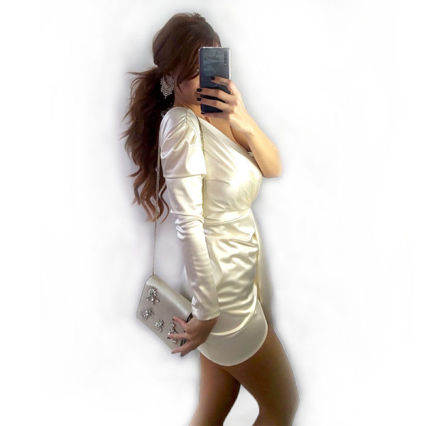 vestido raso blanco olympus