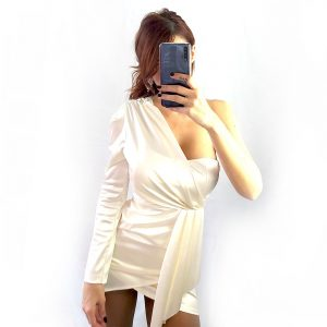 vestido saten olympus