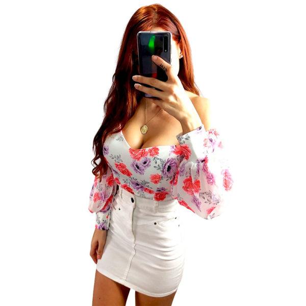 triana blanco + falda