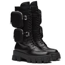 botas militares altas de mujer prada