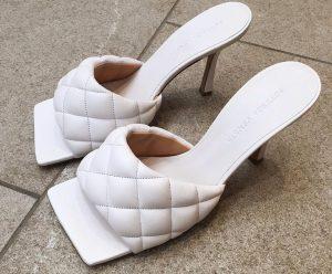 sandalias lodi mujer bottega veneta blancas