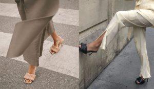sandalias mujer bottega acolchadas