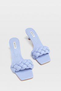sandalias mujer stradivarius acolchada azul bebe
