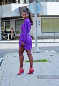 vestido morado