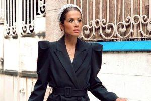 vestido zara con diadema brillos