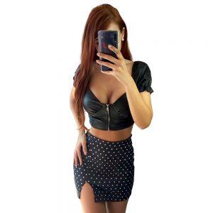 falda lunares negra