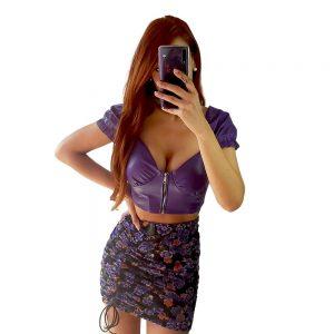 falda de flores corta