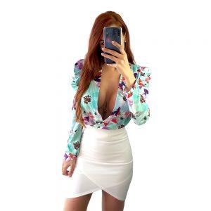falda blanca tubo