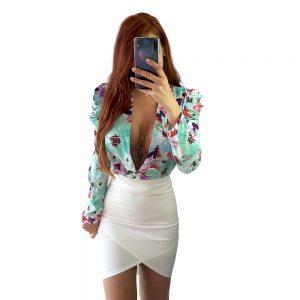 falda blanca de tubo