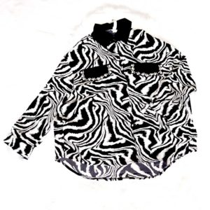 camisa cebra mujer