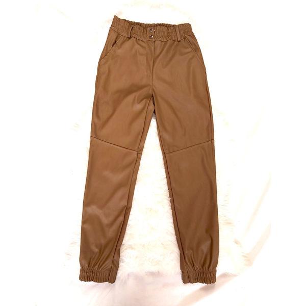 pantalon slouchy polipiel mujer