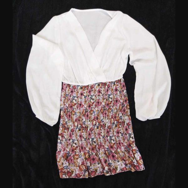vestido camisero corto flores