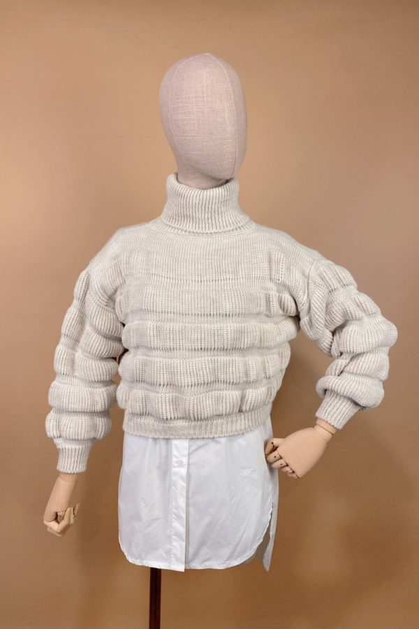 jersey crop top mujer