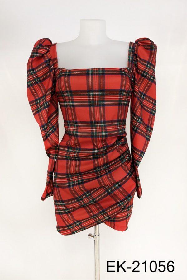 vestido cuadros escoceses